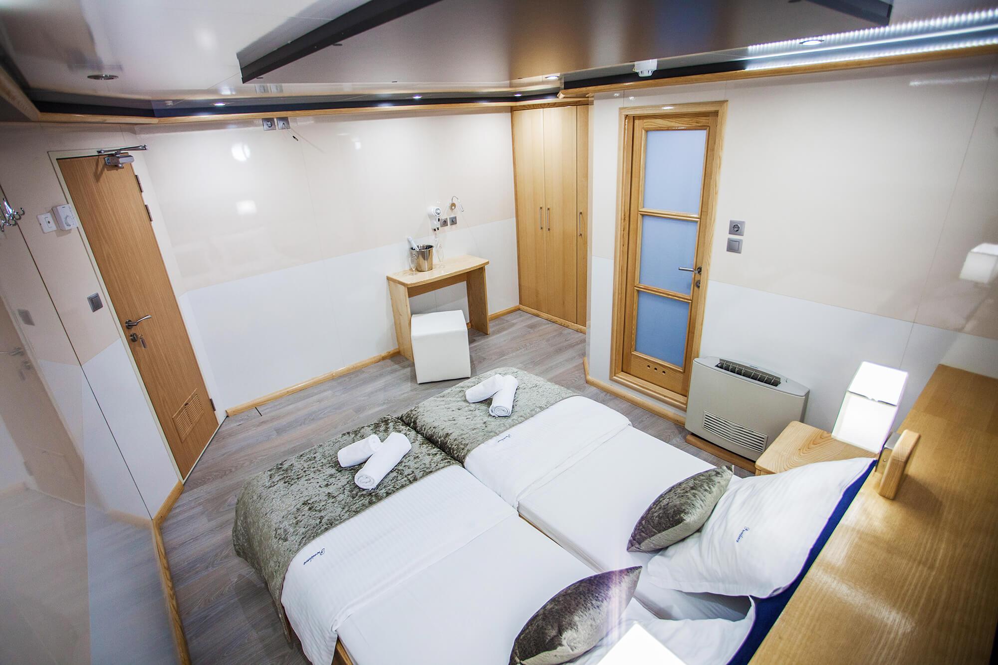 Raw vegan cruise main deck cabin